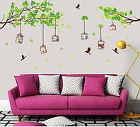 Интерьерная наклейка на стену  Фото на дереве (AM914)