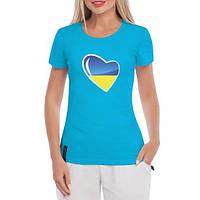 GlobusPioner Женская футболка Украина в сердце 29739