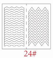 Трафареты для французкого маникюра и дизайна ногтей №24