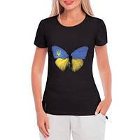 GlobusPioner Женская футболка Бабочка Украины 32093