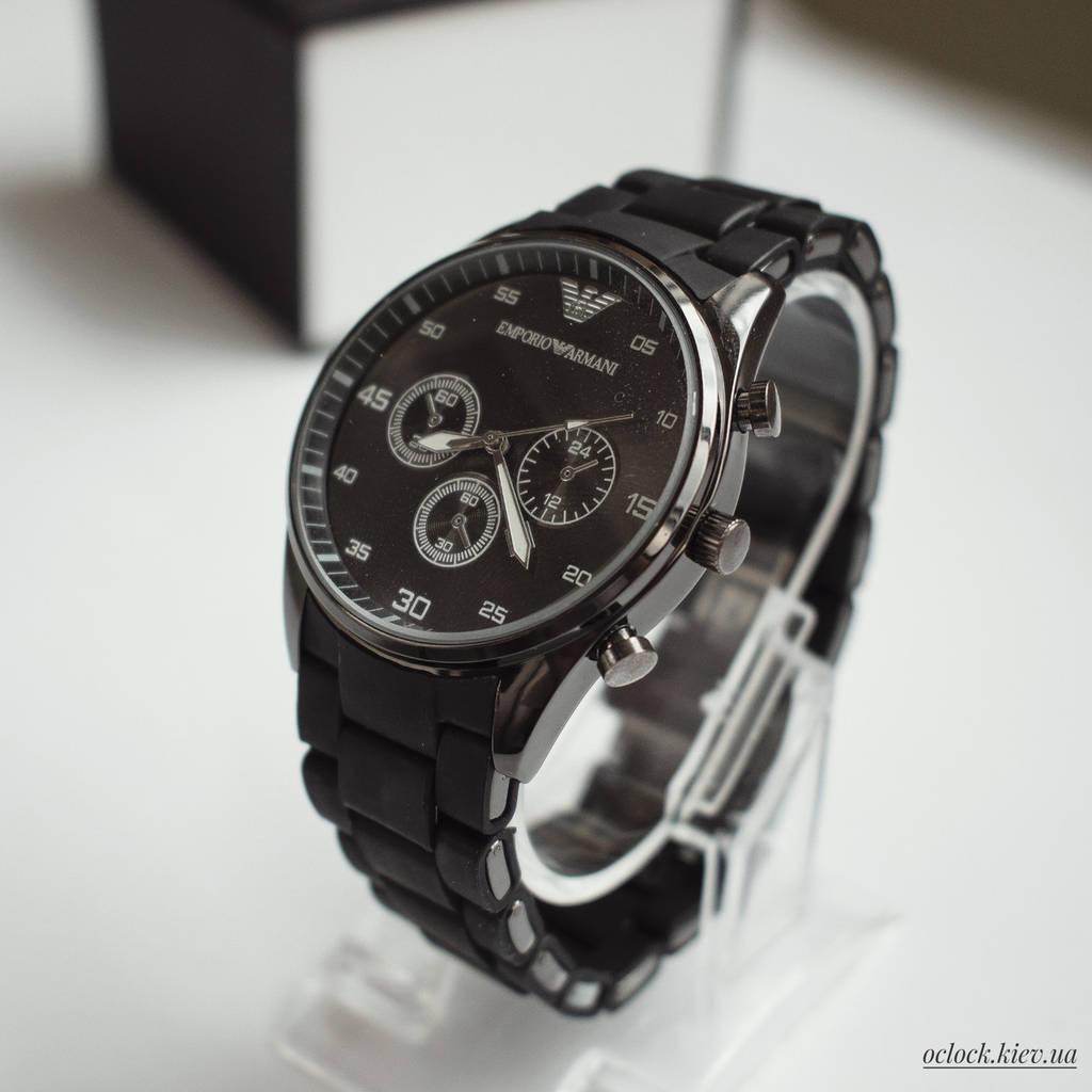 Мужские часы Emporio Armani черные (replica)