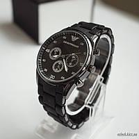 Мужские часы Emporio Armani черные, фото 1