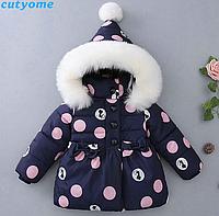 Тепла осіння куртка для маленьких дівчаток, тепла зима