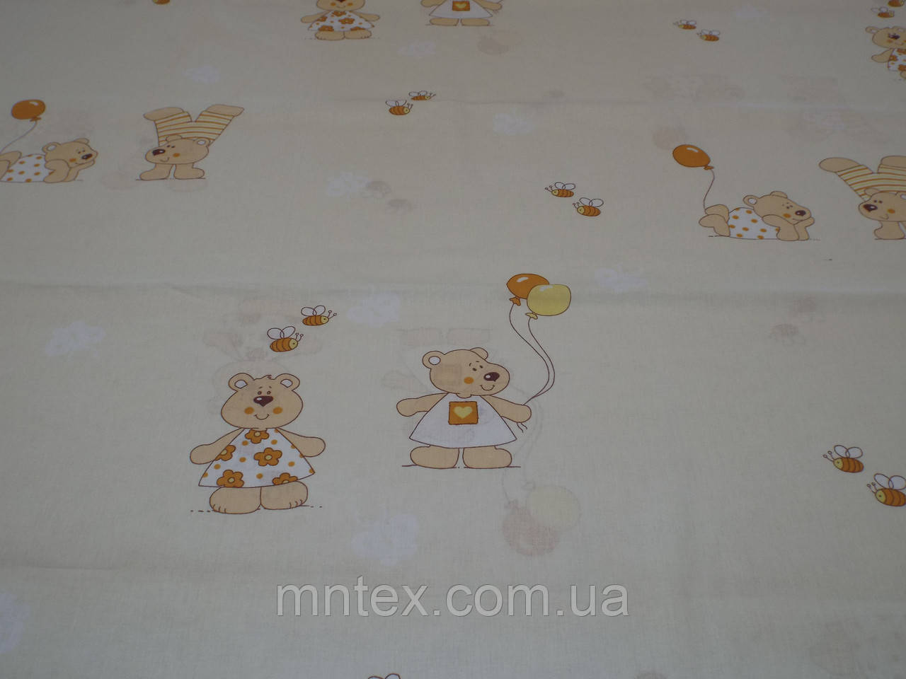 "Ткань для пошива постельного белья бязь Белорусь Мишки  / ""Чарівна Ніч"""