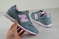 Кроссовки женские New Balance 996 серо-розовые 2367
