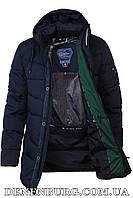 Куртка зимняя мужская BLACK VINYL C17-930C тёмно-синяя