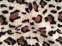 Ткань Махра Велсофт принт леопард ширина 220 см