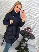 Женская удлиненная куртка пальто на синтепоне