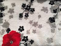 Ткань Махра Велсофт принт цветыширина 220 см