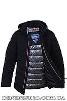 Куртка зимняя мужская BLACK VINYL C17-936C тёмно-синяя, фото 1