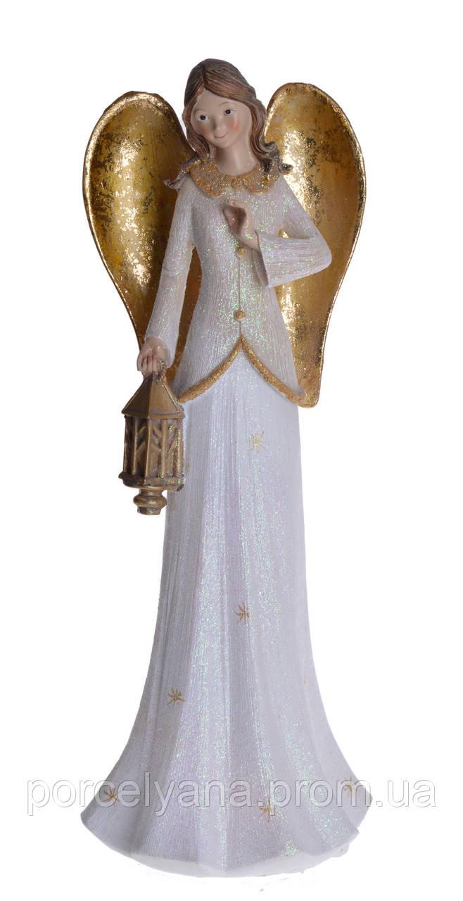 Фигурка Ангел с фонариком 35см