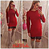 Женское ангоровое платье IO-1056