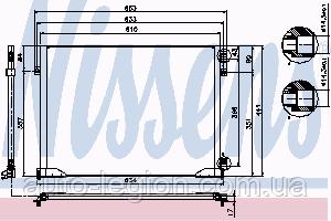 Радіатор кондиціонера Renault Trafic 01-> 1.9 dCi — Nissens (Данія) - NIS 94671