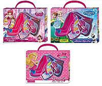 Набор для девочек Детская косметикаFrozen/ Barbie/ Princess V79666H/H1/H2 -2-х ярусная, 3 вида, помада, блес