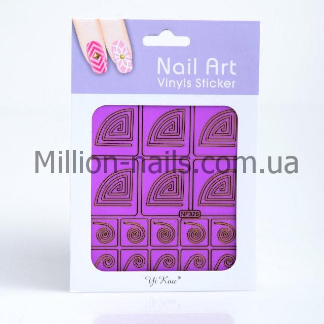 Трафарет для дизайна ногтей, в ассортименте 12 шт