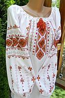 Вишиванка жіноча ручної роботи на домотканому полотні 52 розмір