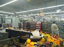 """Линейное и трековое освещение светодиодными светильникми Космос в сети супермаркетов """"Копейка"""""""