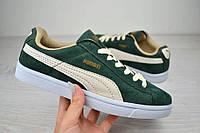Кроссовки мужские Puma Suede зеленые 2422