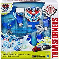 Трансформеры Заряженный Оптимус Прайм  Transformers: Robots in Disguise Power Surge Optimus Prime and Aerobolt