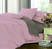 Полуторное (простынь на резинке) постельное белье - Сатин однотонный, микс №005+№240