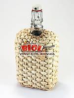 """Бутылка 0,75л стеклянная с бугельной крышкой """"Викинг"""" оплетенная кукурузой"""