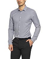 Мужская рубашка LC Waikiki/ЛС Вайкики синего цвета в мелкую белую клетку