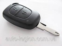 Корпус ключа з язичком, на 2 кнопки на Renault Trafic 2001-> — PG359