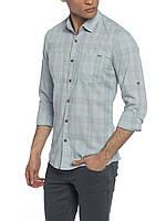 Мужская рубашка LC Waikiki/ЛС Вайкики голубого цвета в полоску M