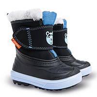 Зимние сапоги, дутики, сноубутсы Demar BEAR голубой для мальчика р.20-27 ТМ Demar (Польша)