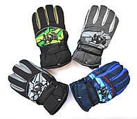 Детские болоневые перчатки для мальчика  - длина 21 см