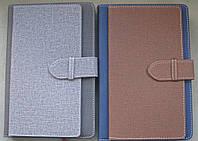 Ежедневник\щоденник датированный А5  с карманами для карт и визиток на хлястике