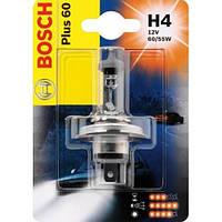 Галогенная лампа H4 12V 60/55W (свет +60%) блистер, на Renault Trafic 2001-> — Bosch (Германия) - 1987301040