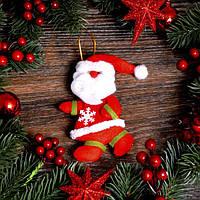 Новогоднее украшение Снеговик и дед мороз