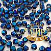 Хрустальные биконусы Premium, 4мм, цвет Metallic Blue, 1 шт