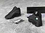"Мужские кроссовки Nike Air Jordan Retro 13 Retro ""Black "". Живое фото. Топ качество (Реплика ААА+), фото 2"