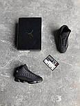 "Мужские кроссовки Nike Air Jordan Retro 13 Retro ""Black "". Живое фото. Топ качество (Реплика ААА+), фото 3"