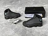 "Мужские кроссовки Nike Air Jordan Retro 13 Retro ""Black "". Живое фото. Топ качество (Реплика ААА+), фото 4"