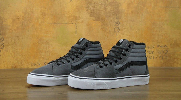 9fe1cc392175 Мужские кеды Vans Sk8 Hi Tops Grey Old Skool Winter (Реплика ААА+)  ...