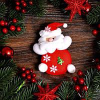 Новогоднее украшение Дед мороз и снеговик
