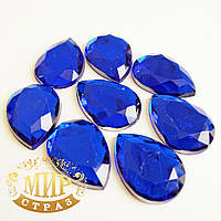 Клеевые стразы Sapphire 10*14мм, цена за 1шт