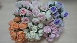 Букет роз из фома 12шт 2,5-3см большые разные 3424