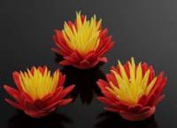 Цветок декоративный из фоамирана 3,5см 5-34710-4 красно-желтый
