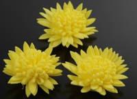 Цветок декоративный из фоамирана 3,5см 5-34727-2 желтый