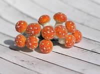 Грибочки оранжевые в обсыпке 12шт