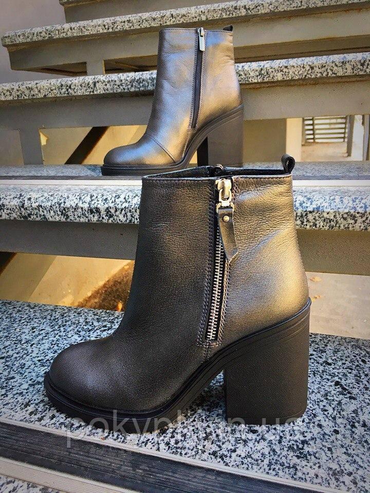 45e36c632fd7 Ботильоны ботинки женские короткие кожаные осень стильный дизайн удобный широкий  каблук