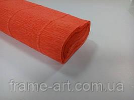 Креп-папір Італія 50см*2,5 м 180г/м2 17E/6 апельсин 074