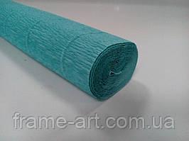 Креп-папір Італія 50см*2,5 м 180г/м2 17E/3 блакитний пастельний 074