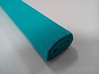 Креп-бумага 1/18 50см*2м 35-40г/м2 голубой Польша 7131