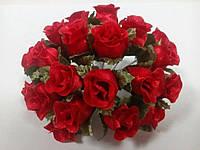 Букет тканевых роз 20 цветков, красные