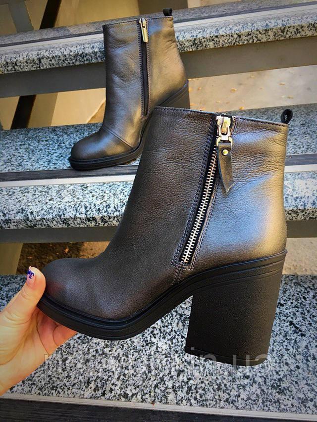 48e3b37fb Ботильоны ботинки женские короткие кожаные осень стильный дизайн удобный широкий  каблук